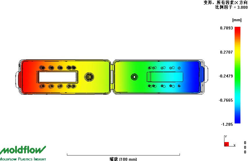 硬质聚合物芯片开模注塑批量加工模具示意图