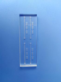 汶颢能加工PDMS、PMMA、玻璃、纸等各种基质微流体分析芯片