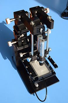 微流体分析芯片机械对准平台设备