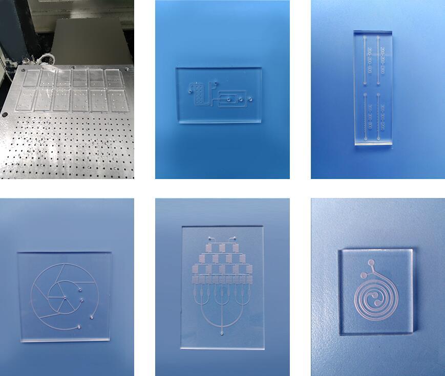 汶颢微流控2D/3D芯片数控CNC加工工艺产品效果图