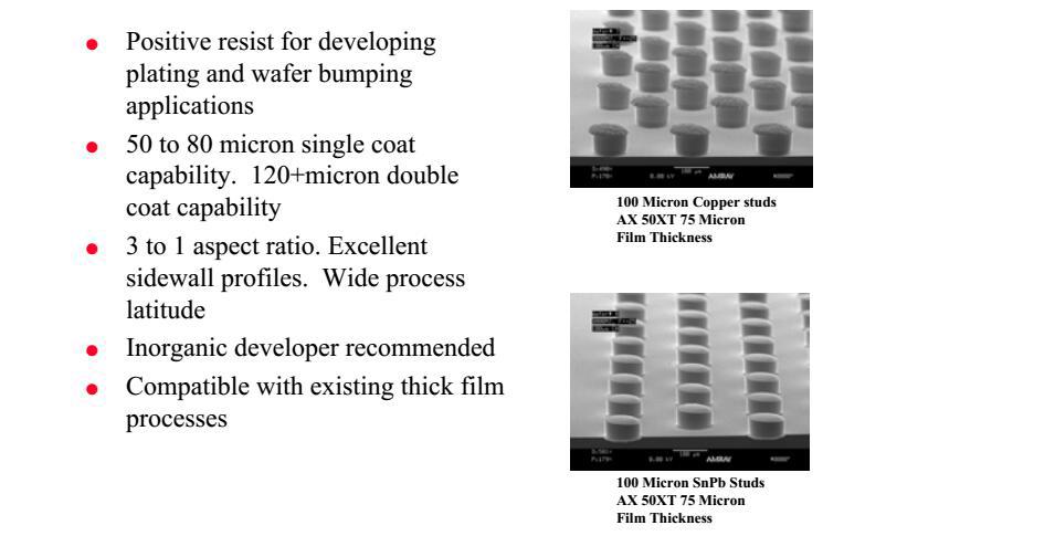 AZ 50XT 正性光刻胶价格、工艺、参数、优缺点及说明