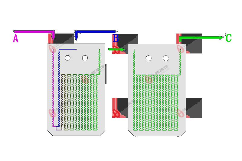 微反应器流体工艺模拟图