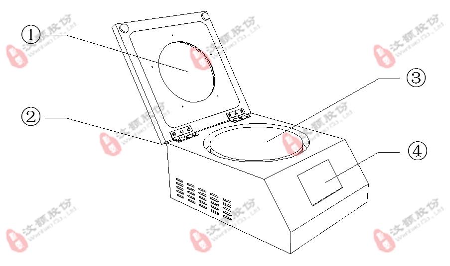 汶颢烘胶台/烤胶机特征图解1