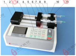 汶颢股份可编程高精度双通道注射泵
