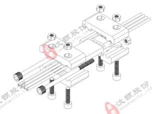 标准芯片横款夹具装配效果图