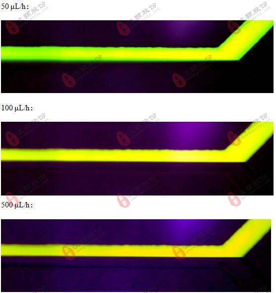 微流控层流玻璃芯片流动特性