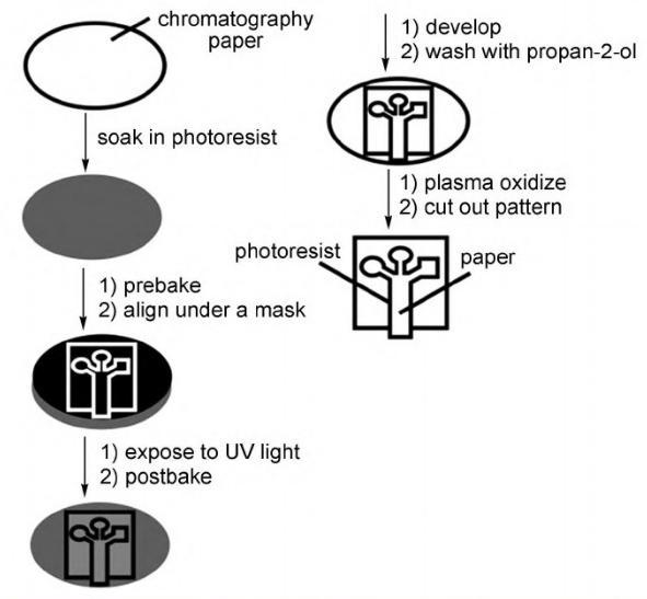 微流控纸芯片的加工技术