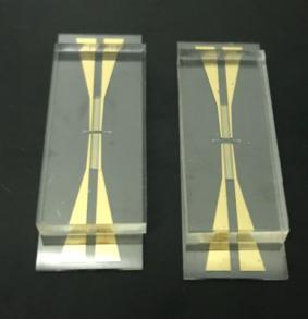 汶颢微流控镀金/铂芯片效果图