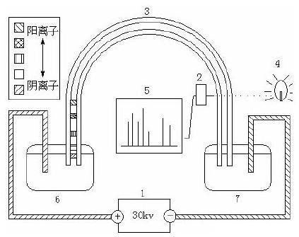 微流控芯片毛细管电泳过程示意图