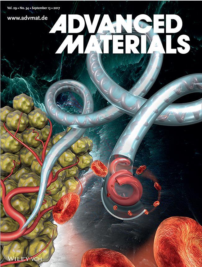 含螺旋血管通道的水凝胶纤维制备技术