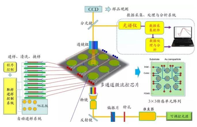 集成微流控纳米光子学传感检测系统研究