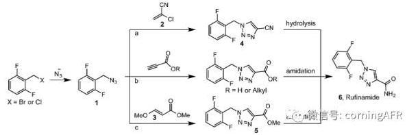 卢非酰胺的合成反应方程式