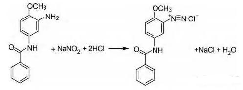 图1红色基的重氮化反应方程式