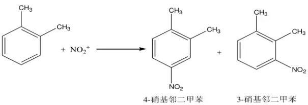 邻二甲苯硝化反应方程式如下