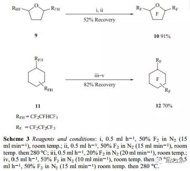 微反应器还可以用于全氟化过程