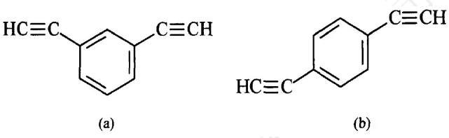 图1二乙炔基苯分子结构