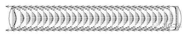 图4液滴内循环流动CFD模拟图