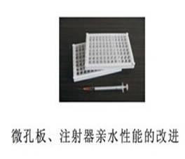 微孔板、注射器亲水性能的改进