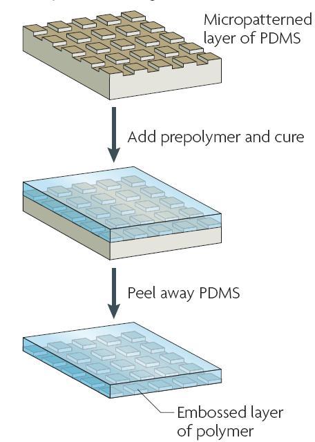 图3 复制成形技术的过程