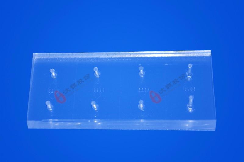 8-channel drug screening microfluidic chip(40µm etch depth)
