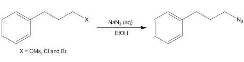 图4 叠氮化反应路线图