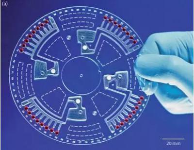 图9 吸塑工艺得到的离心式微流控芯片