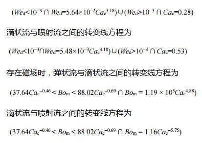 弹状流与滴状 流之间的转变线方程