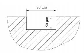 图4微通道截面