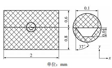 图3 仿真的几何模型