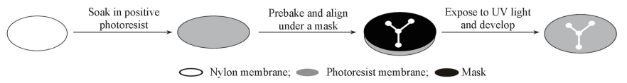 Fig.1Fabricationprocessofmembrane-basedmicrofluidicchip