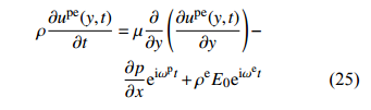 力–电协同驱动流模型的建立