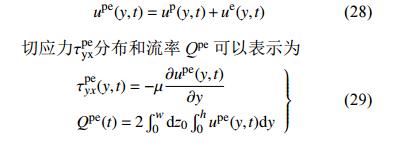 力–电协同驱动流模型的建立3