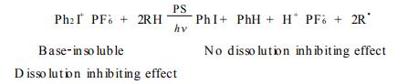二苯基碘盐作为阻溶剂的简单原理