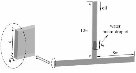 图1T型交错结构的几何模型
