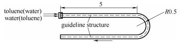 图13内置有指引壁的通道