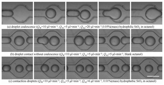 图3碰撞腔室内液滴流动状态