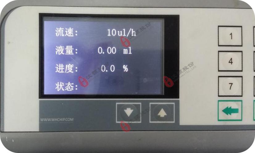 单通道微量注射泵使用工作运行界面显示