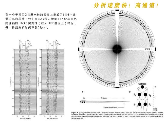 微流控芯片实验室分析检测速度快,具有高通道等特性。