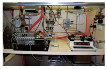 图5二硝基乙烷合成的微反应系统