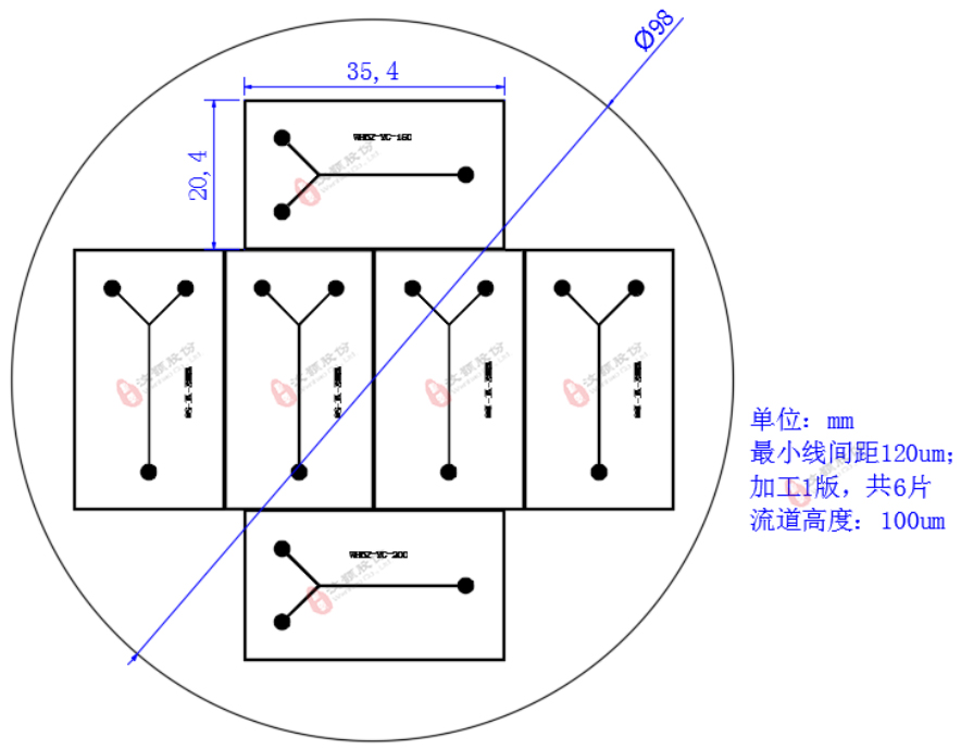 PDMS、纯硅芯片图纸设计