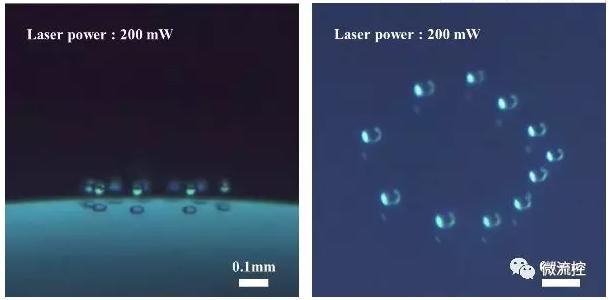 悬浮液滴可视化图像