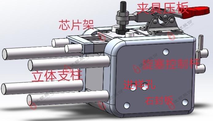 液滴产生、收集、分析模块于一体的装置特征图解