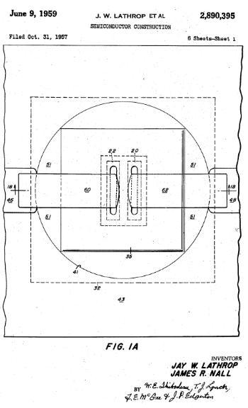 Lathrop和Nall关于半导体制造的专利,1959年