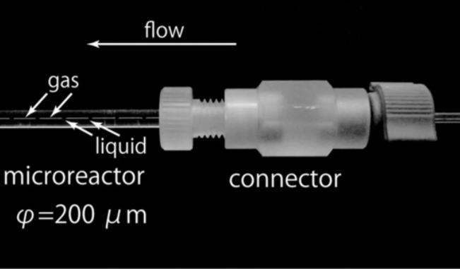 图8 气-液-固微通道反应器内Taylor反应流