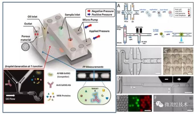 液滴微流控技术应用于分子诊断免疫检测和病毒感染性检测