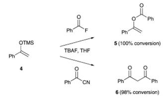 方案2 甲硅烷基烯醇醚的氧与碳酰化