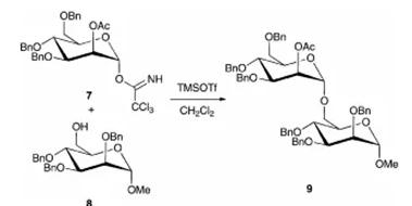 方案4 微反应器中的糖基化反应