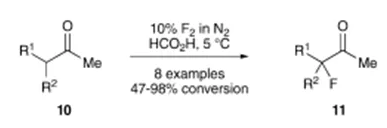方案5 使用元素氟氟化