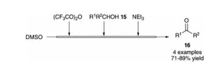 方案7 使用微型流动系统的Swern氧化