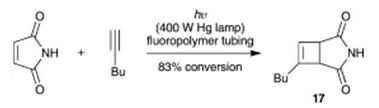 方案8 [2+2]氟聚合物管中的环加成反应
